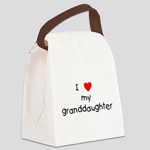 lovemygranddaughter Canvas Lunch Bag