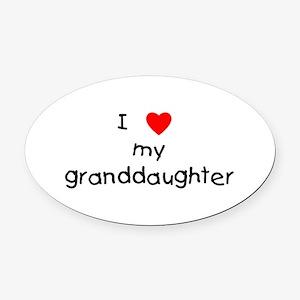 lovemygranddaughter.png Oval Car Magnet