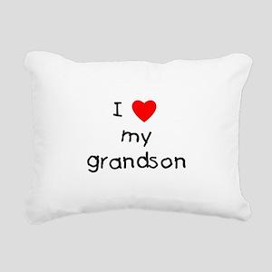 lovemygrandson Rectangular Canvas Pillow