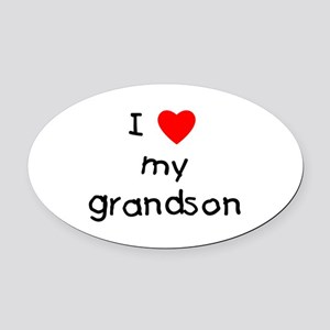 lovemygrandson.png Oval Car Magnet