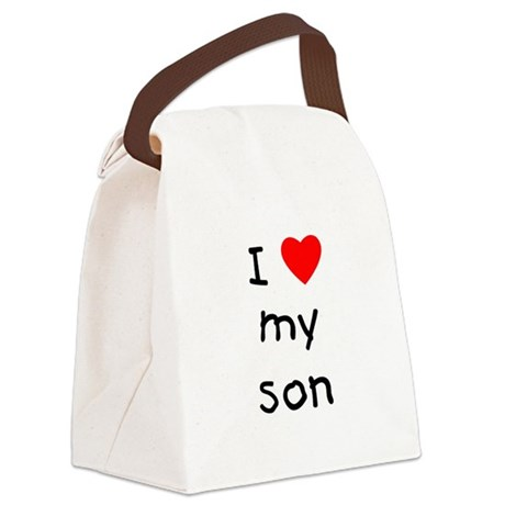 lovemyson.png Canvas Lunch Bag