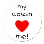 cousinlovesme Round Car Magnet