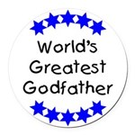 greatestgodfatherblue Round Car Magnet