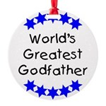 greatestgodfatherblue Round Ornament
