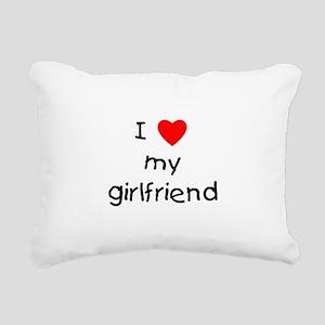 lovemygirlfriend Rectangular Canvas Pillow