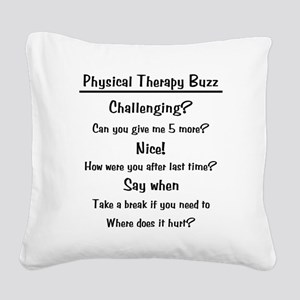 ptbuzz-black Square Canvas Pillow