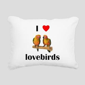 lovelovebirds Rectangular Canvas Pillow
