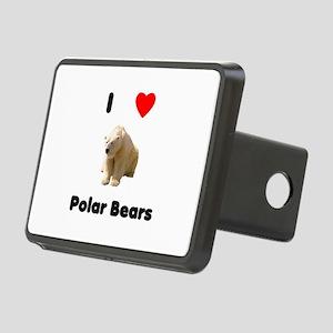 I Love Polar Bears Rectangular Hitch Cover