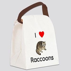 loveraccoons Canvas Lunch Bag