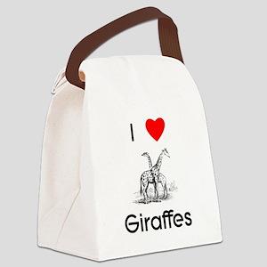 lovegiraffes Canvas Lunch Bag