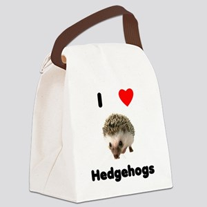 I Love Hedgehogs Canvas Lunch Bag