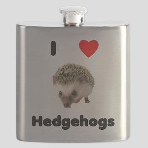 I Love Hedgehogs Flask