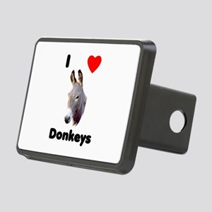 I Love Donkeys Rectangular Hitch Cover
