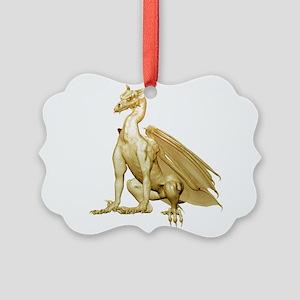 goldzdragon1-t Picture Ornament