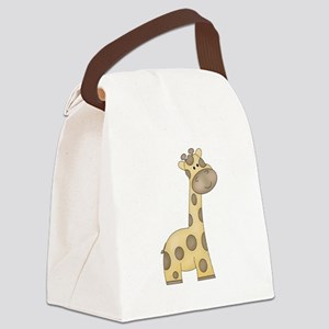 Cartoon Giraffe Canvas Lunch Bag