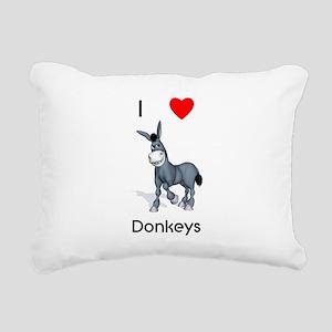 lovedonkeys2 Rectangular Canvas Pillow