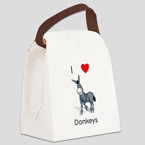 lovedonkeys2 Canvas Lunch Bag