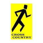yycrosscounr Sticker (Rectangle 10 pk)