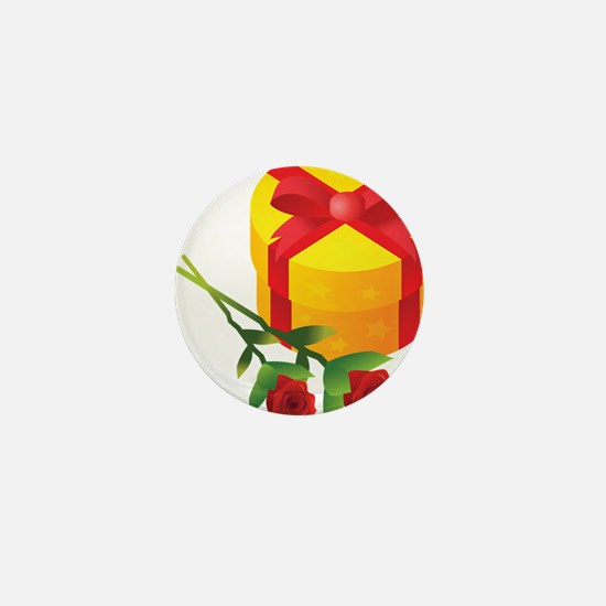 Gift and Roses Mini Button
