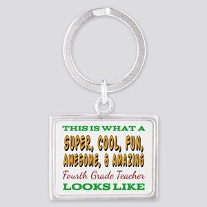 This Is What An Awesome Fourth Grade Tea Keychains