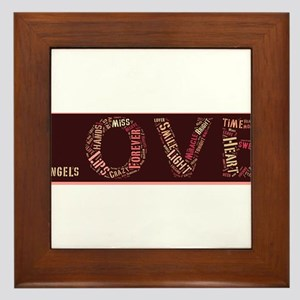 What is love made of? Framed Tile