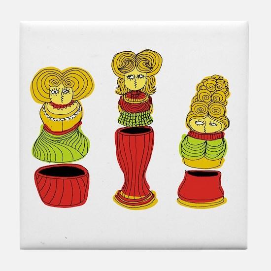 Matrioska Tile Coaster