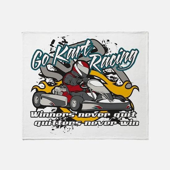 Go Kart Winner Throw Blanket