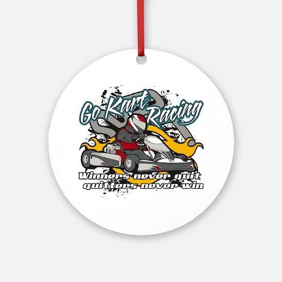Go Kart Winner Ornament (Round)