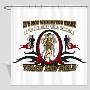 Track and Field Start Shower Curtain