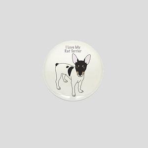 I Love My Rat Terrier Mini Button