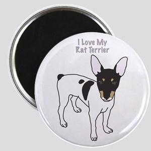 I Love My Rat Terrier Magnet