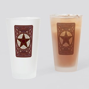 Red Pentagram, Triquatras & Cel Drinking Glass