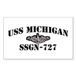 USS MICHIGAN Sticker (Rectangle 50 pk)