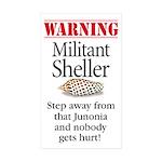 MilitantSheller3x5 Sticker (Rectangle 10 pk)