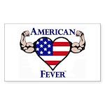 American Fever Strong He Sticker (Rectangle 50 pk)