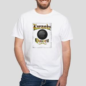 KARAOKE QUEEN White T-Shirt