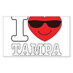 I Love Tampa Sticker (Rectangle 10 pk)