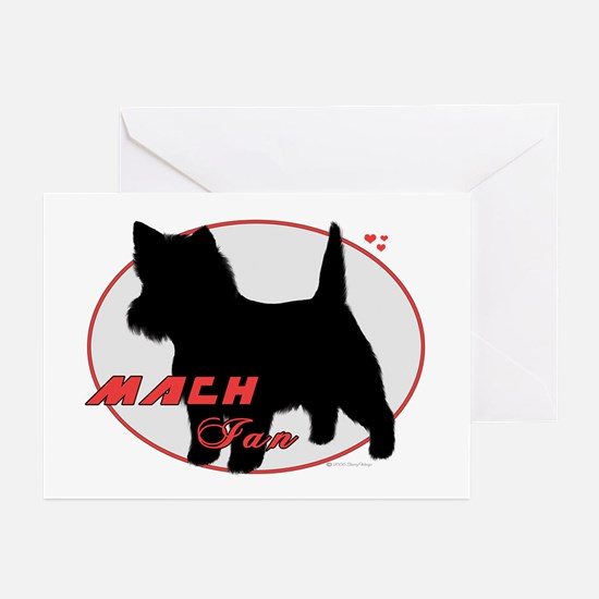 MACH Ian Silver Oval Greeting Cards (Pk of 10)