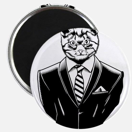Business Cat Magnet