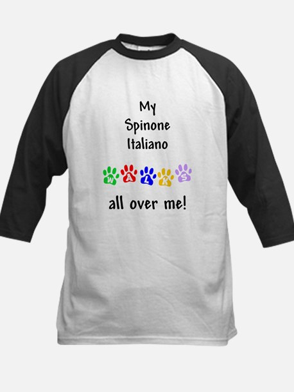Spinone Italiano Walks Kids Baseball Jersey