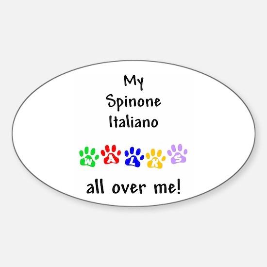 Spinone Italiano Walks Oval Decal