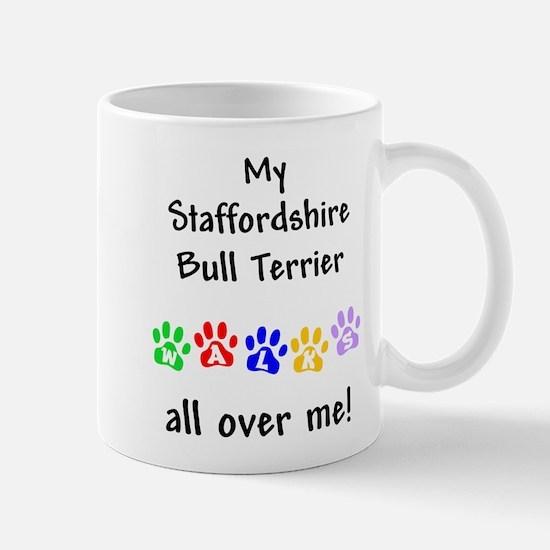 Staffordshire Bull Terrier Walks Mug
