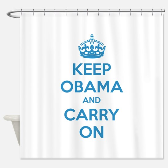 Keep obama and carry on Shower Curtain