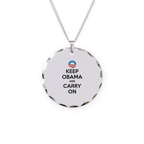 Keep obama and carry on Necklace Circle Charm