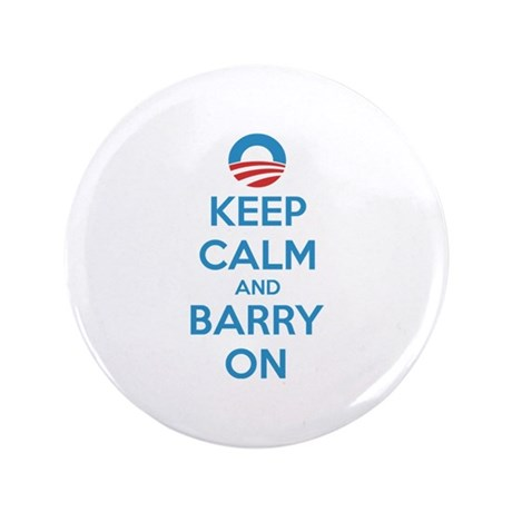 """Keep calm and barry on 3.5"""" Button"""