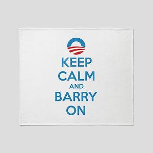 Keep calm and barry on Throw Blanket