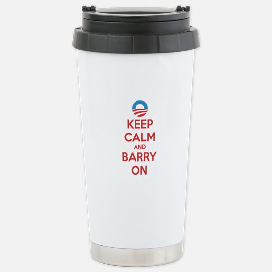 Keep calm and barry on Stainless Steel Travel Mug