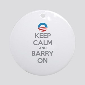 Keep calm and barry on Ornament (Round)