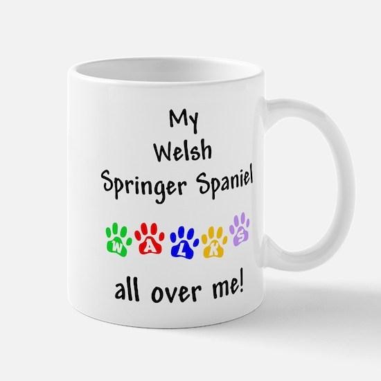 Welsh Springer Spaniel Walks Mug