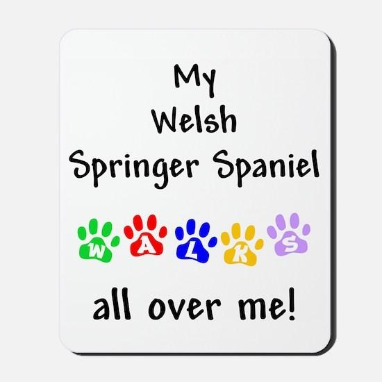 Welsh Springer Spaniel Walks Mousepad